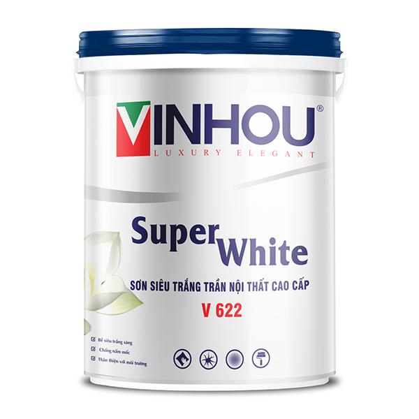 Sơn siêu trắng trần nội thất cao cấp 5L - V 622